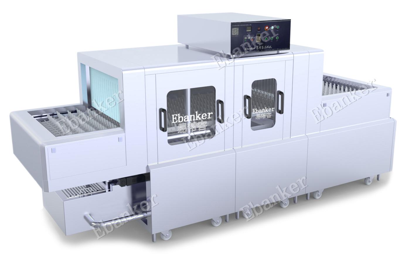 【EB12】一洗双漂3.5米商用长龙式洗碗机