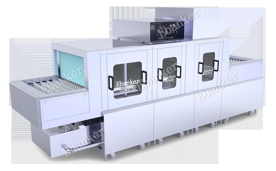【EB121】一洗两漂单烘4.6米商用长龙式洗碗机