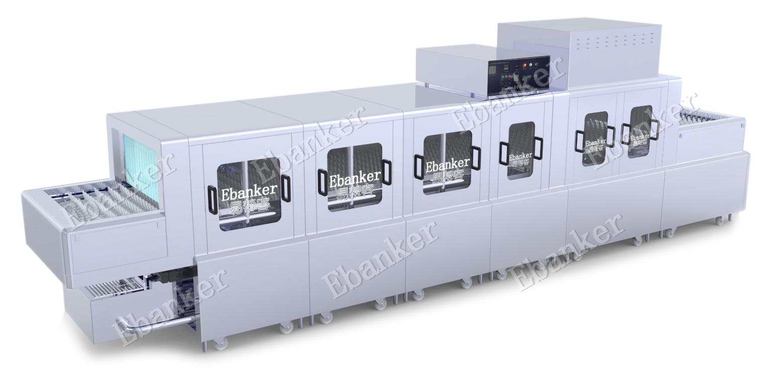 【EB322】三洗两漂两烘7.1米长龙式商用洗碗机